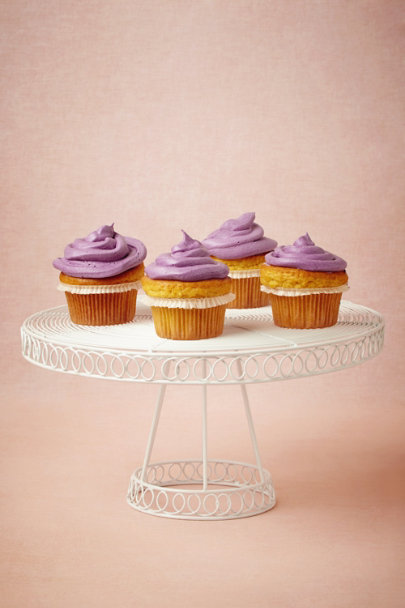 white Twirling Swirl Cake Stand | BHLDN
