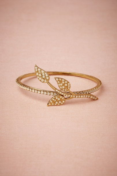 White Opal Opaline Twig Bangle | BHLDN