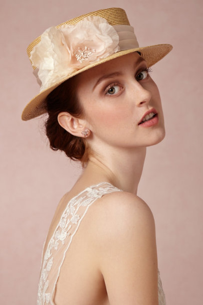 Mademoiselle Slassi neutral Seine Boater | BHLDN