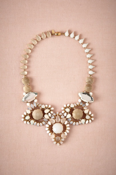 Tataborello white Boho Bib Necklace | BHLDN