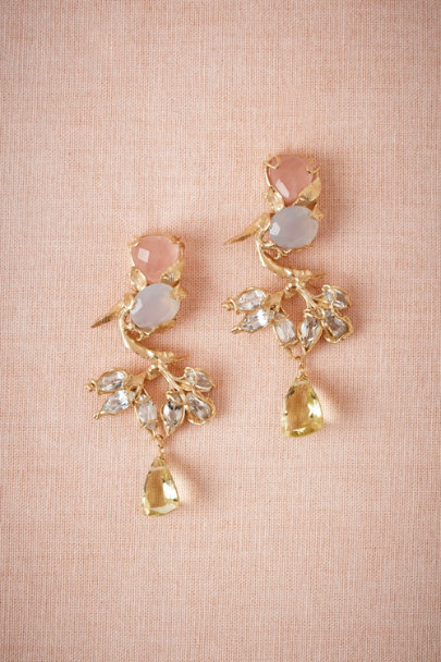 Cristina Zazo gold Quartz Parlor Drops | BHLDN