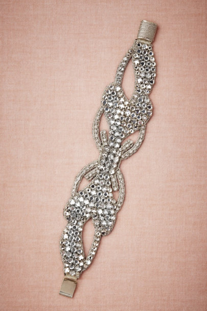 Silver Crystal Lattice Bracelet | BHLDN