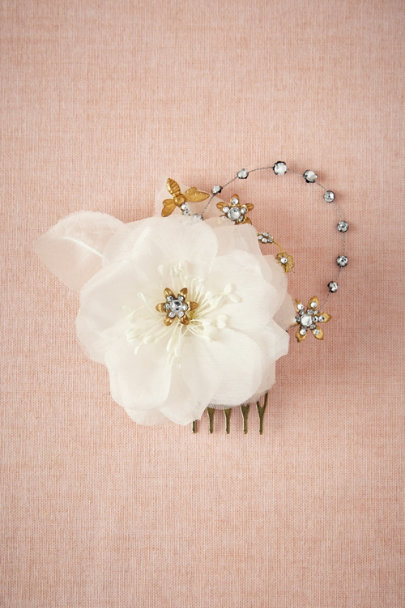 Cécile Boccara ivory Rhododendron Comb | BHLDN