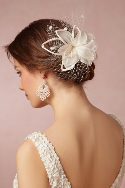 L'Orina ivory Dalloway Earrings | BHLDN