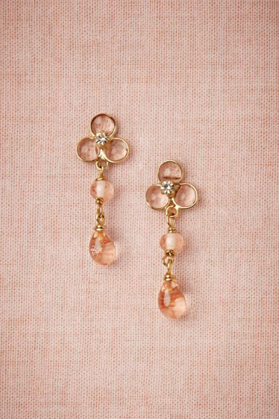 salmon Sheer Droplets Earrings | BHLDN