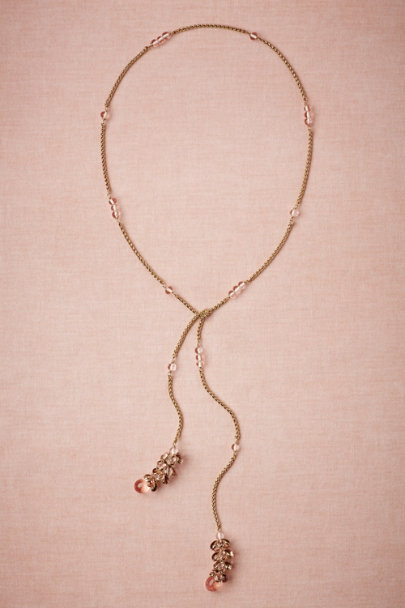 salmon Titian Lariat Necklace | BHLDN