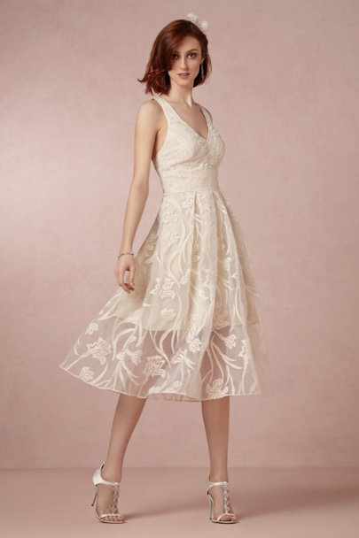 Yoana Baraschi ivory Fresh Blossoms Dress | BHLDN
