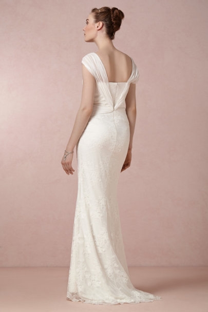 Badgley Mischka ivory Maya Gown | BHLDN