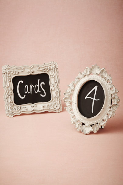 cream/black Ornate Chalkboard Frames | BHLDN