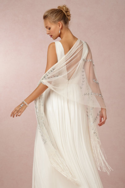 Ivory Silvered Vine Wrap | BHLDN