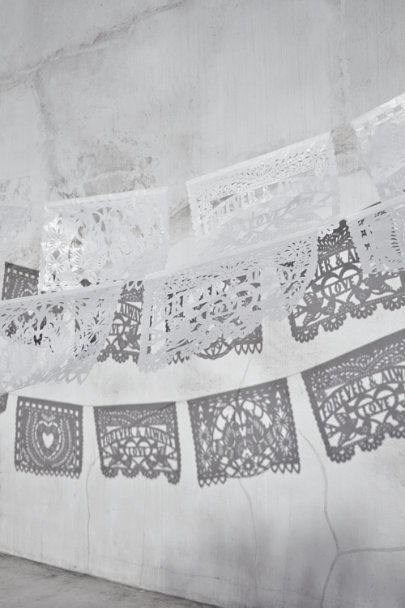 white Jumbo Papel Picado | BHLDN