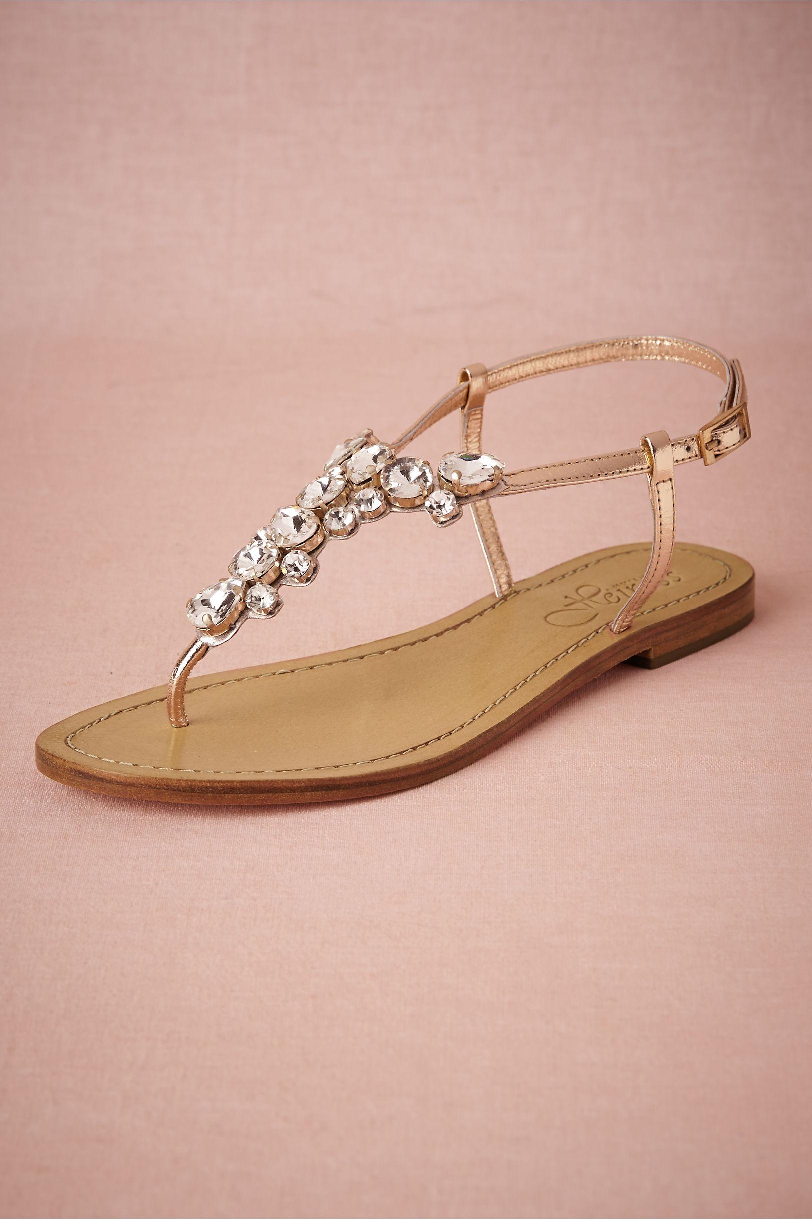 Sandals honeymoon shoes with rhinestone - Crystal Demure Sandals Bhldn