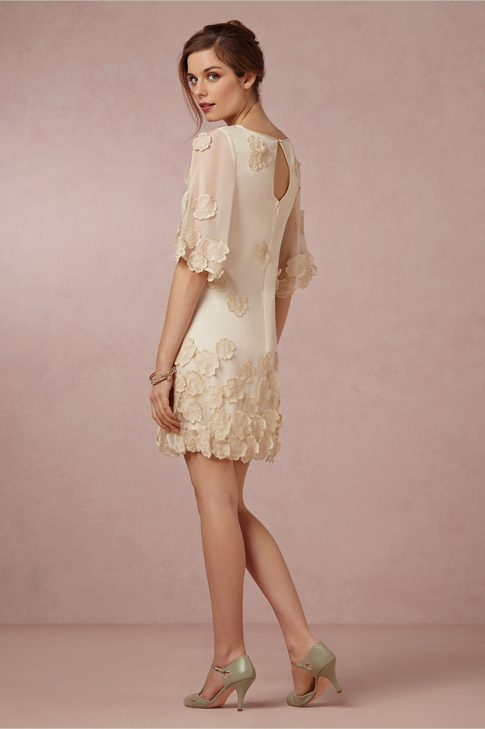New bhldn anthropologie gardenia dress by hitherto size for Anthropologie beholden wedding dress
