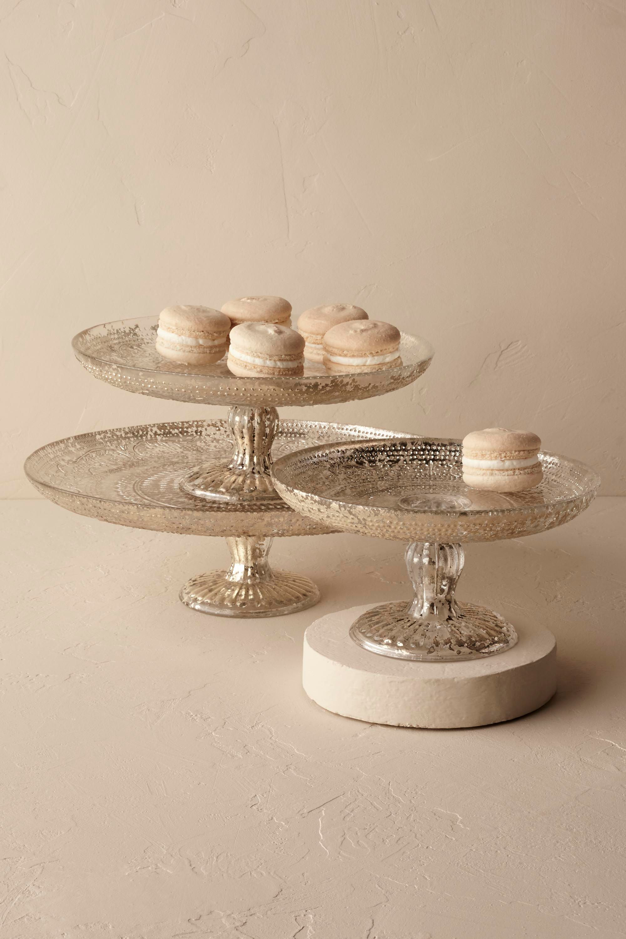 Antiquitarian Silver Cake Stand