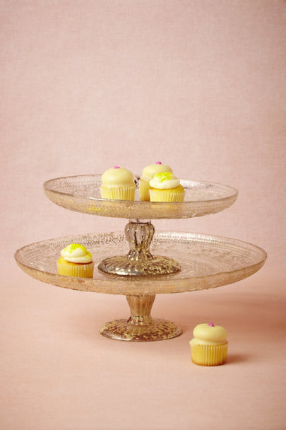antique silver Antiquitarian Cake Stand | BHLDN