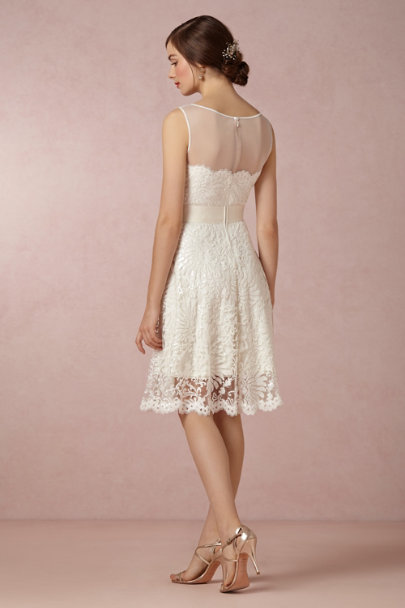 ivory Sequined Juniper Dress | BHLDN