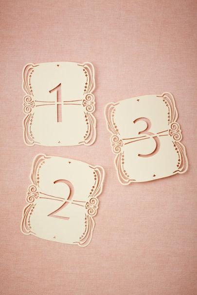 Lacy Lasercut Table Numbers (5)