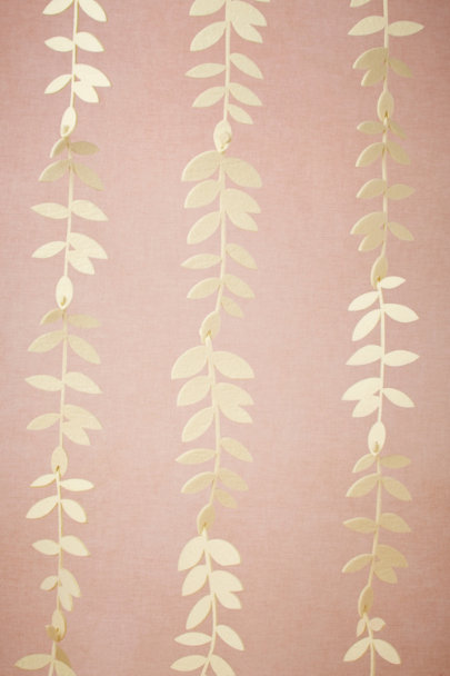 ivory Felted Foliage Garland (20) | BHLDN