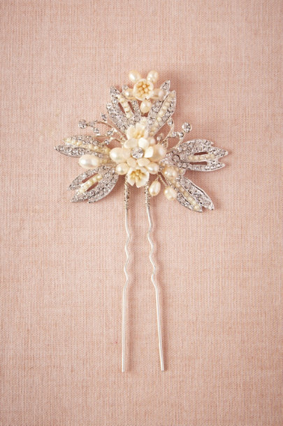 silver Nicobar Hairpin | BHLDN
