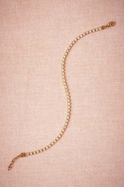 Gold/crystal String-of-Sparkles Bracelet | BHLDN