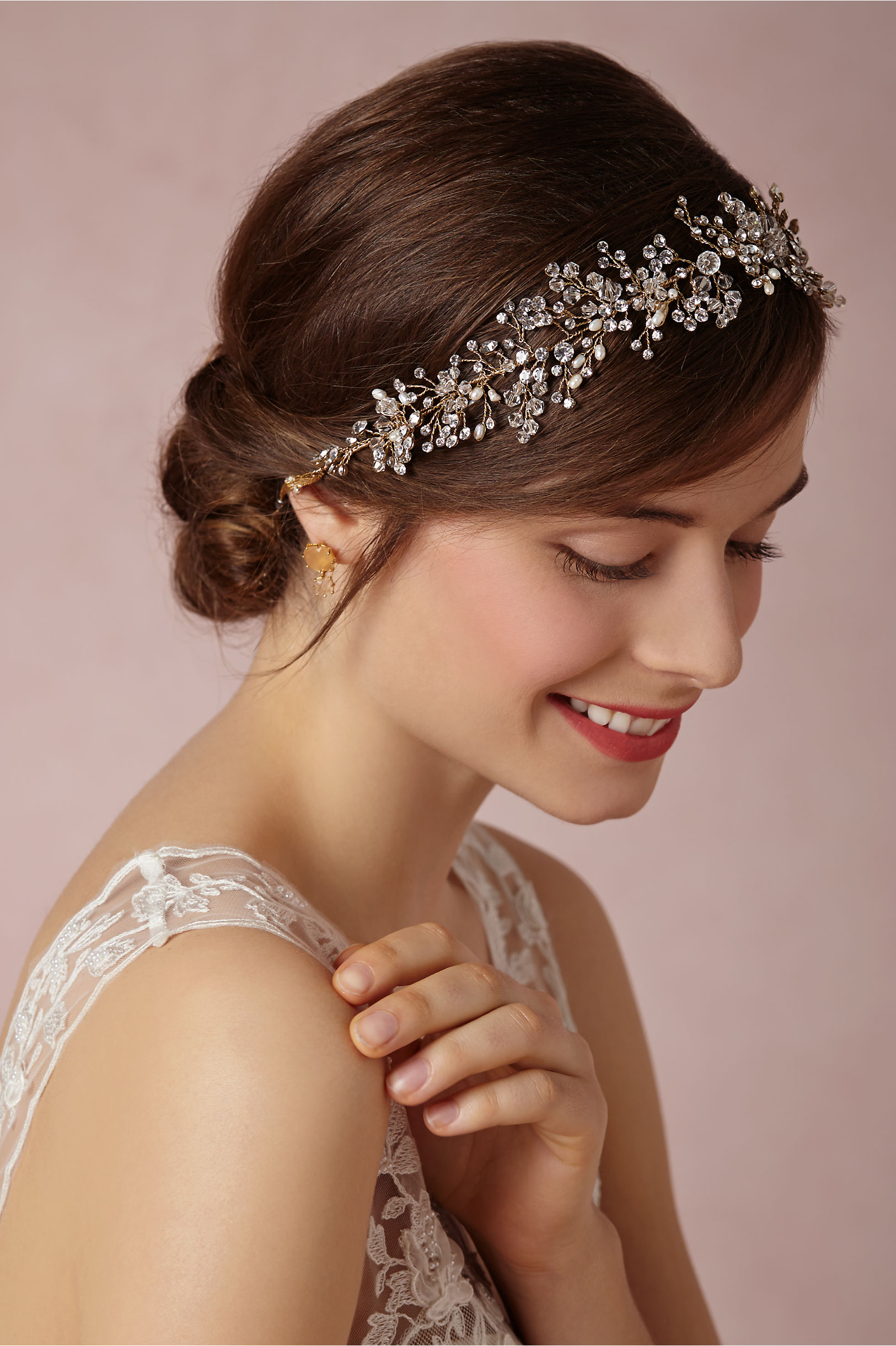 Br Bridal Headpieces Twigs And Honey - Twigs honey pearl breathless halo bhldn