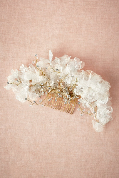 Twigs & Honey ivory Lace Petal Comb | BHLDN