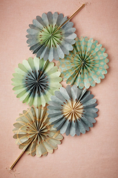 blue motif Celebration Crinkle Fans (10) | BHLDN