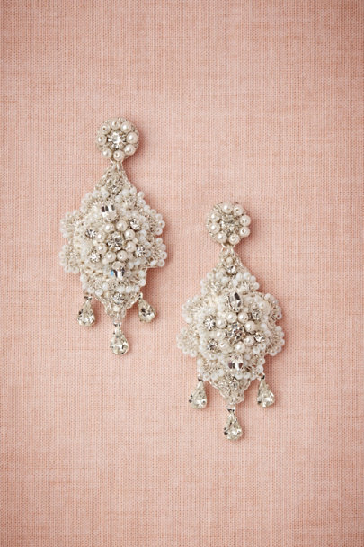 crystal Crochet Crystal Earrings | BHLDN