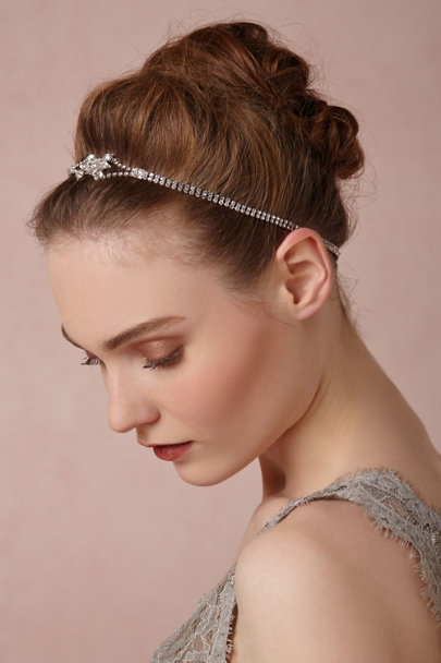 Jennifer Behr silver Leola Head Wrap | BHLDN