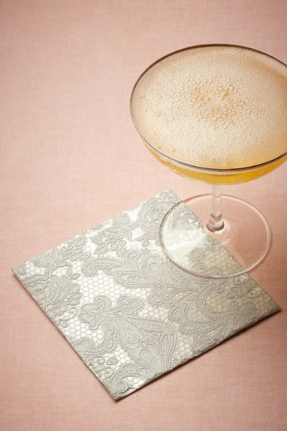 silver Chantilly Cocktail Napkins (15) | BHLDN