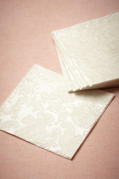 pearl Chantilly Cocktail Napkins (15) | BHLDN