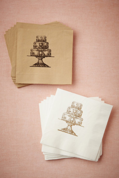 white/gold Take The Cake Napkins | BHLDN