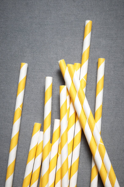 yellow Spiraled Shoppe Straws (25) | BHLDN