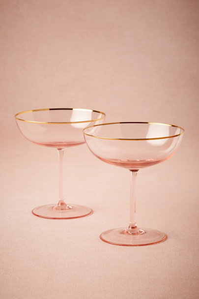 Blush Rosy-Cheeked Coupes (2) | BHLDN