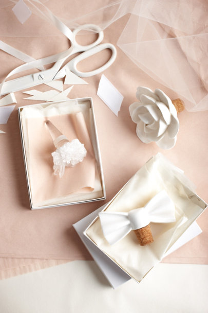 white Cape Jasmine Bottle Stopper | BHLDN