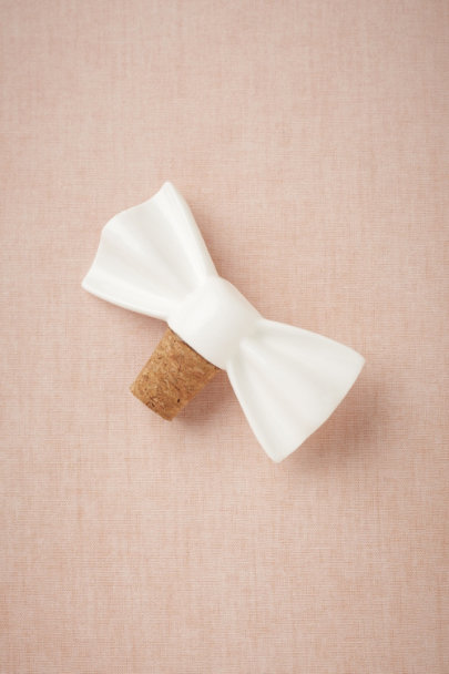 white Dapper Bottle Stopper | BHLDN