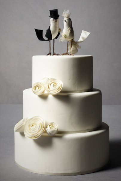 black & white Princely Pair Cake Topper | BHLDN