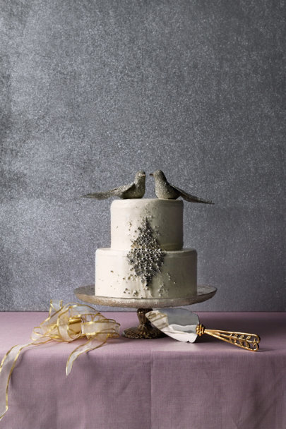 gold/silver Surkhet Cake Server | BHLDN