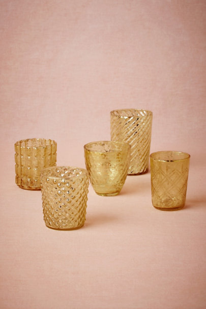 gold Bric-A-Brac Votives (5) | BHLDN