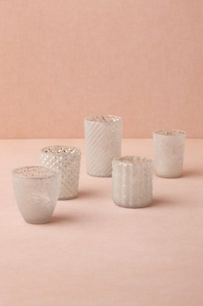 white Bric-A-Brac Votives (5) | BHLDN