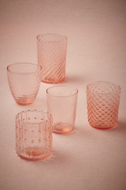 rose Strawberry Nectar Votives (5) | BHLDN