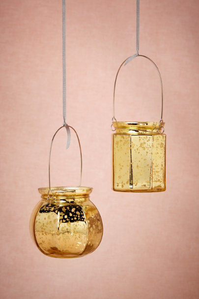 gold Hanging Mercury Votive | BHLDN