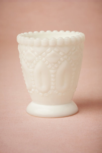 milk Milk Glass Argyle Votive | BHLDN