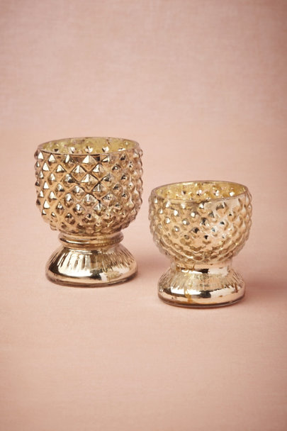 silver Hobnail Chalice Votives | BHLDN
