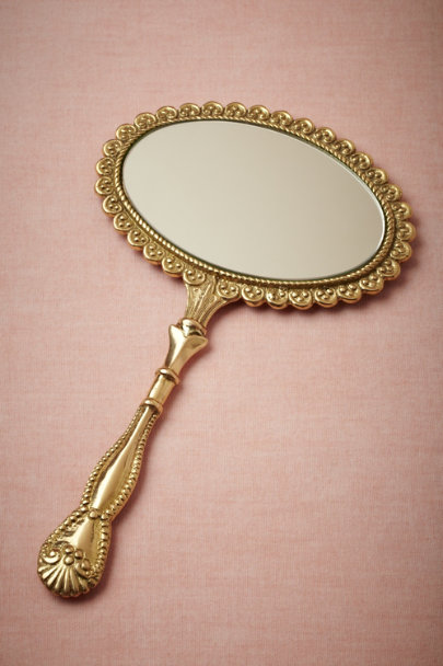 antique gold Retrospection Mirror | BHLDN