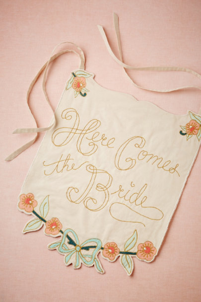 assorted Here Comes the Bride/Just Married Banner | BHLDN
