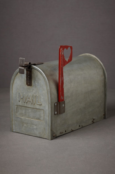 Silver Love Letters Mailbox | BHLDN