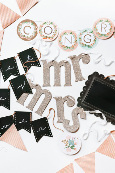 Wendy Addison silver Newly Minted Chair Signs | BHLDN
