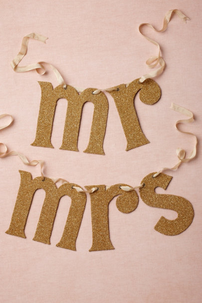 Wendy Addison gold Newly Minted Chair Signs | BHLDN