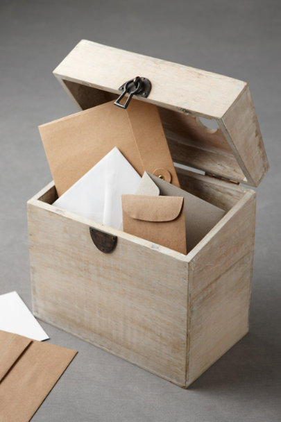 natural Passkey Card Box | BHLDN